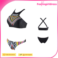Factory Price Newest Geometric Shapes Printing New Bikini Sex 2016