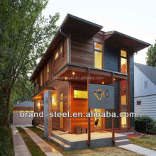 green pre fabricated steel luxury kit homes