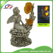 western fairy tale mermaid statue led statue lights mother and child stone carving statue