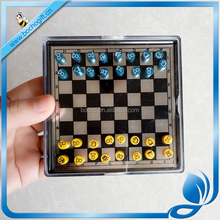 outdoor zinc alloy magnetic chess with small size