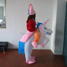 Hola white inflatable unicorn costumes/inflatable costume
