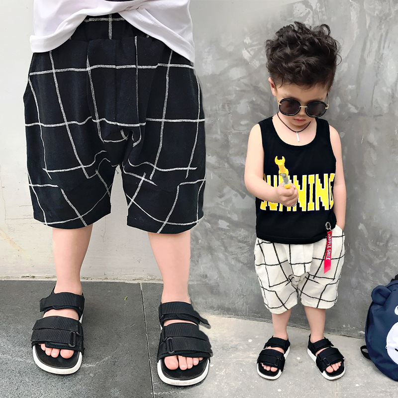 S17138A high quality plaid shorts new summer boys pants