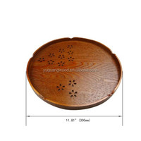 Vintage solid wooden pizza tray