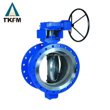 2017 TKFM low pressure flange connection anti-confensation remote control butterfly valve positioner