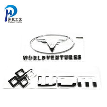Customized ABS Chrome Plated 3D Lighted Car Emblem with shiny logo letters Plastic Casting Car Sticker