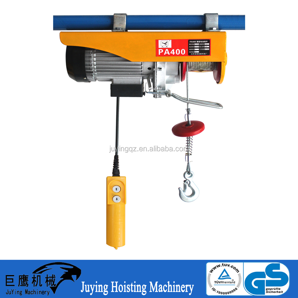 Portable Wire Rope Excel Engine Hoist with Capacity 100-1200kg