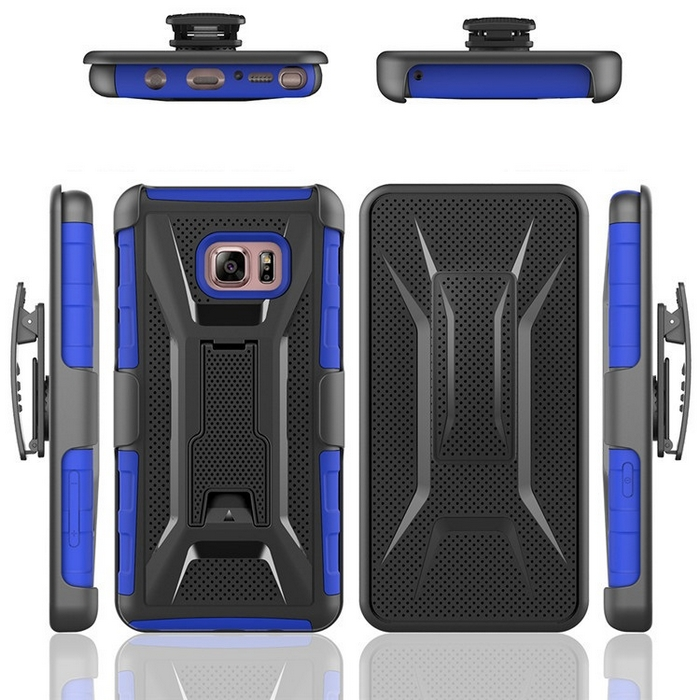 High Impact Dual Layer Holster combo Case with Kickstand for Samsung Note 7