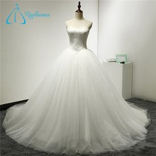 Ball Gowns Tulle China Custom Made Wedding Dress
