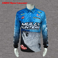 Breathable Polyester Long Sleeve Quick Dry Fishing Shirts