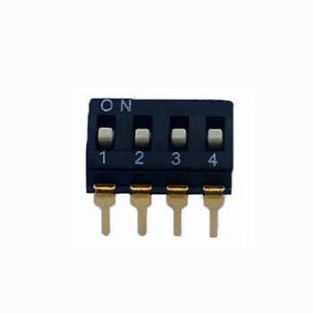 Dual Row 4 Gold Tone Pin 2.54mm Stright IC Dip Switch