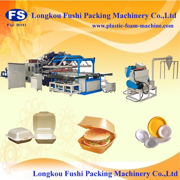 PS Foam Food/Lunch/Burger/Pizza Box/Container/Plate/Tray/Bowl Forming Machine