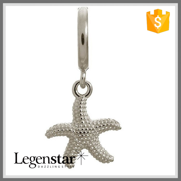EC0012 Bracelet Charm Sea Life Themed Silver Starfish Charm Jewelry