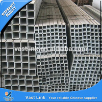 astm erw galvanized square pipes price distributors