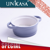 STOCK ceramic stoneware bulk soup bowl with handle