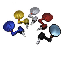 Semi CNC Die-casting Colorful Motorcycle Handle Bar End Reaview Mirror