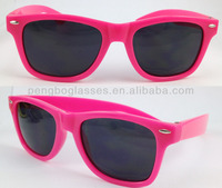 neon color frame sunglasses meet CE & ANSI standard