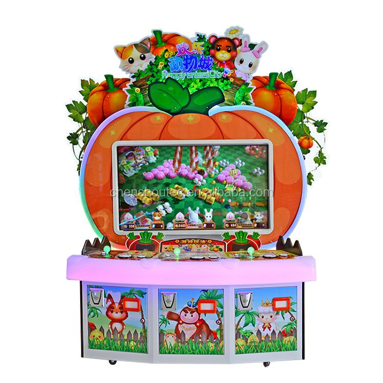 ChenShou Bilhete de Loteria Máquina de Jogo Da Moeda Feliz Zoológico Máquina de Jogo de Arcade