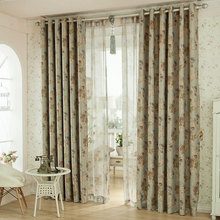 American style floral printed blackout curtain living room curtains