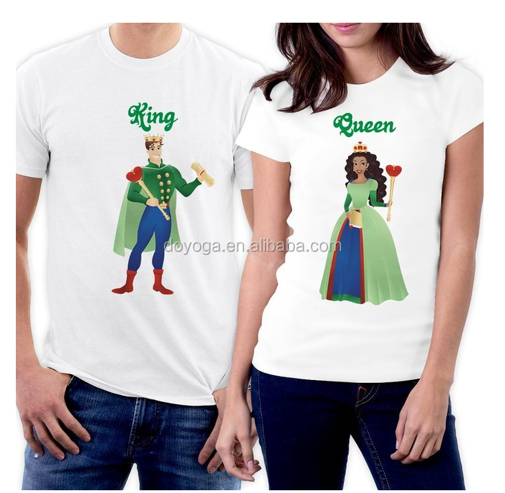Custom wholesale fashion love cute design couple t shirts