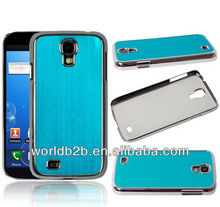 chrome back cover case for samsung galaxy s4 i9500, Luxury Brushed Aluminum Chrome Hard Case