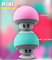 Wholesale colorful portable bluetooth mini mushroom USB handsfree holder 4.0 stereo speaker for shower for all mobile phone