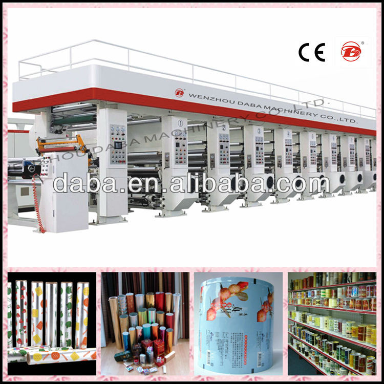 DBAY81000C High Speed 7 Motor Computer Rotogravure Printing Machine/Gravure printing machine/ Rotogravure printing machine Price