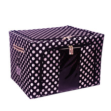 Wholesale Metal Supporting Customized Oxford Fabric Polyester Folding Storage Box Factory Price