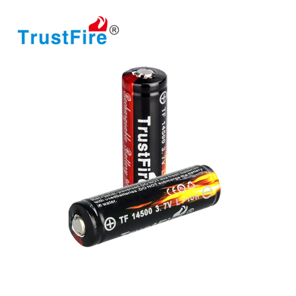 TrustFire original factory battery price,14500 3.7v 900mah battery charger accessories rechargeable li-ion batteries