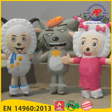 Airpark Advertising Inflatables Chinese Cartoon Doll Pleasant Goat And Grey Wolf