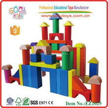 120pcs Kindergarten Toys Wooden Building Blocks