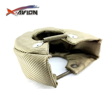Promotion Wholesale T6 Titanium Lava Cover Exhaust Heat Wrap Turbo Blanket with Fastener Springs