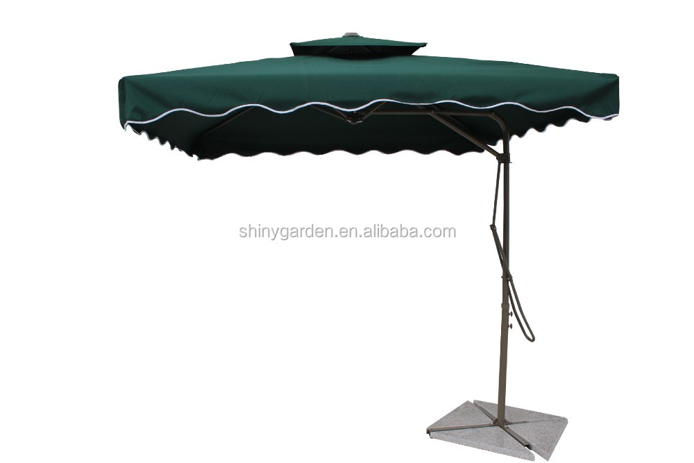 Side Pole Wind Resistant Square /Beach /Patio Double Layer Umbrella Wholesale