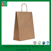 2015 wholesale cheap recycled brown paper bag