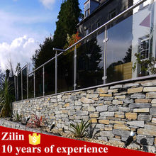 Aluminium balustrade, cheap balustrade, concrete balustrade with stainless steel glass railing