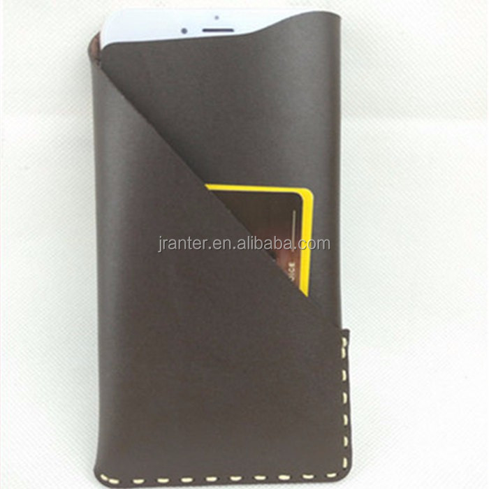 Genuine Leather Custom Phone Case for iPhone6 Mobile Pouch