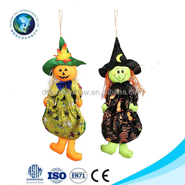 Cartoon Witch Candy Bag Christmas Halloween Decoration Bag