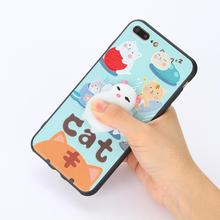 2017 New Unique Cute Cartoon Phone Cover 3D Silicone Mochi Stress Relief Squishy Phone Case For Iphone