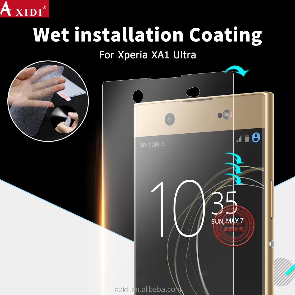 water screen protector supplier for Sony Xperia XA1 Ultra , full cover wet applied screen protector