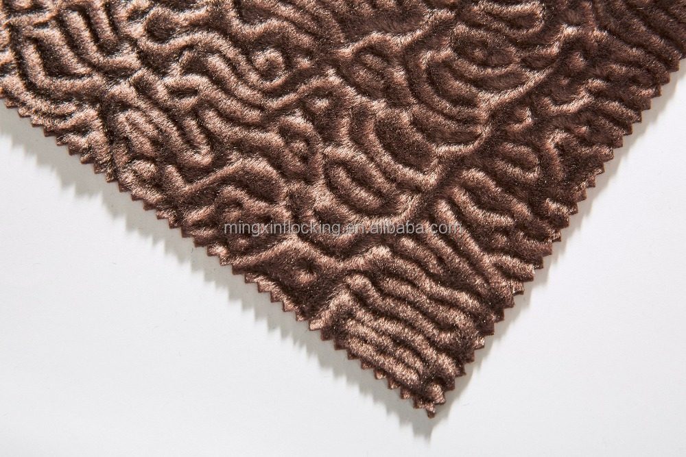 high quality factory wholesale embossed velvet fabric mx803 garment textile