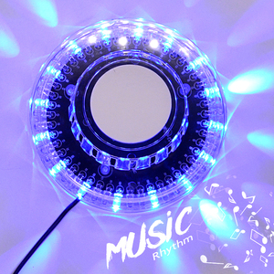 Get free sample 48 RGB LED wheel light for disco DJ USB battery powered led party stage light