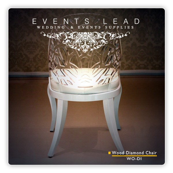 Wedding Wood Diamond Acrylic Clear Chair Buy White Wood