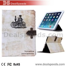 Stylish Flip Foldable Stand Retro Style Leather Case for iPad Air