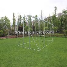 2017 Best selling walk in greenhouse set glass panels commercial farming house