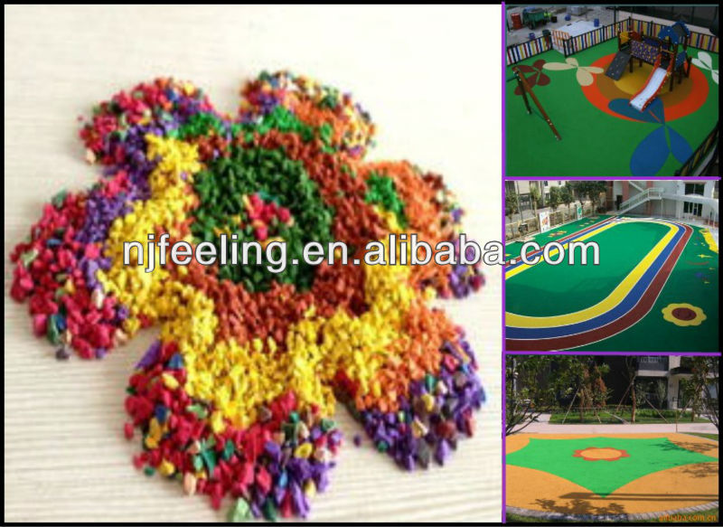 Sports courts flooring EPDM rubber granules/Athletic track crumb rubber epdm materials-G-Y-235