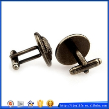 Economic top sell alloy cufflink findings