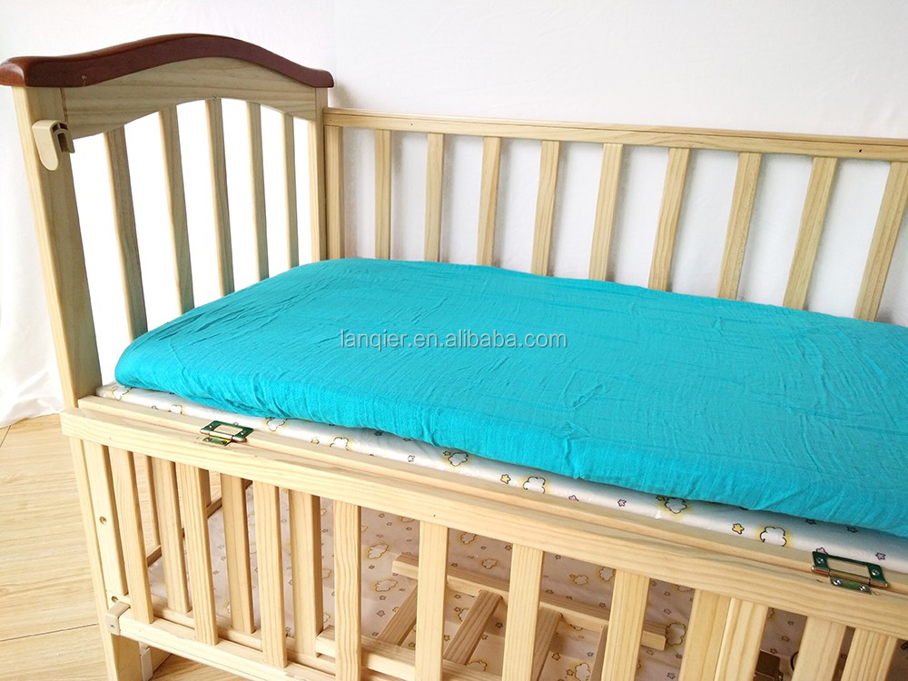 Custom solid color baby soft crib fitted sheet baby bedding sheet