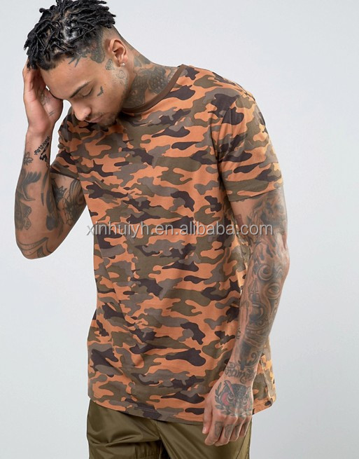 2017 Fashion High Quality 160g 100% Polyester Custom O-Neck Short Sleeve Sublimation Print Under Camo T Shirt