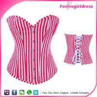 Fast Shipping Vertical Bar Sexy Pink Hook Sample Free Corset For Girl