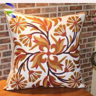 Hot Good-Looking Dye Printed Cover Ribbon Embroidery Covers cushion