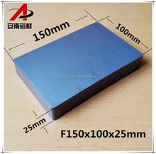 "Custom F6""x4""x1"" large size block magnet ferrite for magnetic separation"